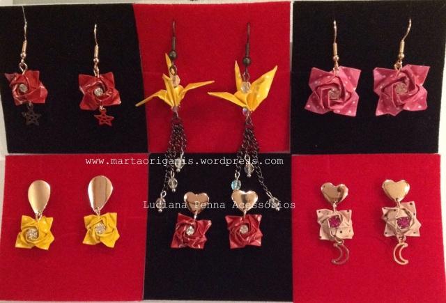 nova coleção brincos de origamis