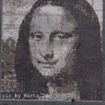 Monalisa, num mosaico, na Av: Reouças. Uma foto que eu queria tirar há tempos!! 24.out